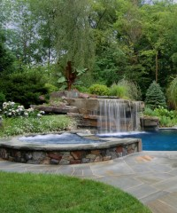 Tropical Backyard Waterfalls - Allendale NJ   Cipriano ...