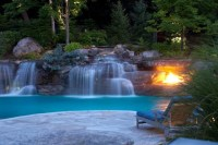Pool Waterfalls Design- Mahwah NJ | Cipriano Landscape ...