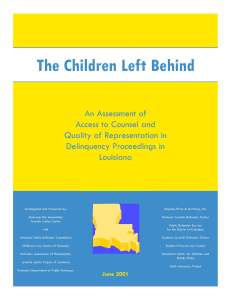 Louisiana Assessment Cover Page
