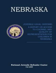 Nebraska Assessment Cover Page