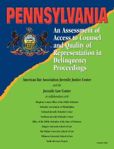 Pennsylvania Assessment Cover Page