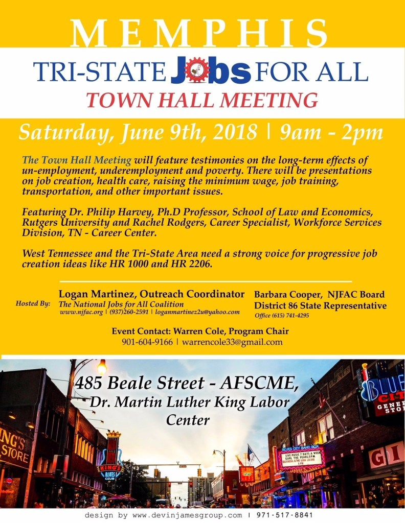 Memphis Tri-State Jobs for All Town Hall Meeting