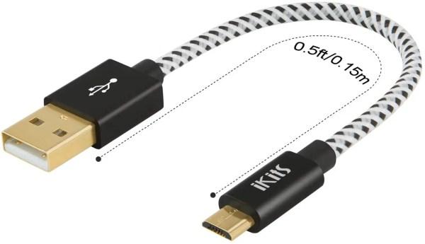 P/N: 22-2021 Cabo USB Curto - USB 2.0 Macho / Micro B