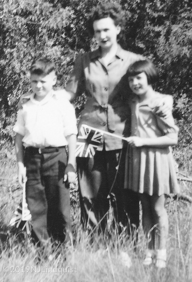Margaret with her brother Terry and sister Fay at Indian Head