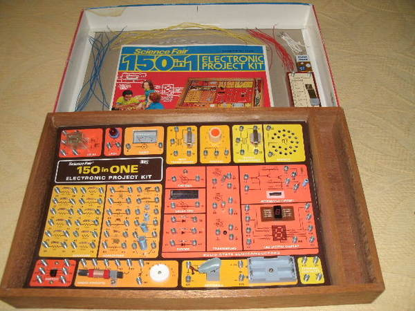 150 In One Electronic Project Kit Kit Radio Shack Tandy Electronic