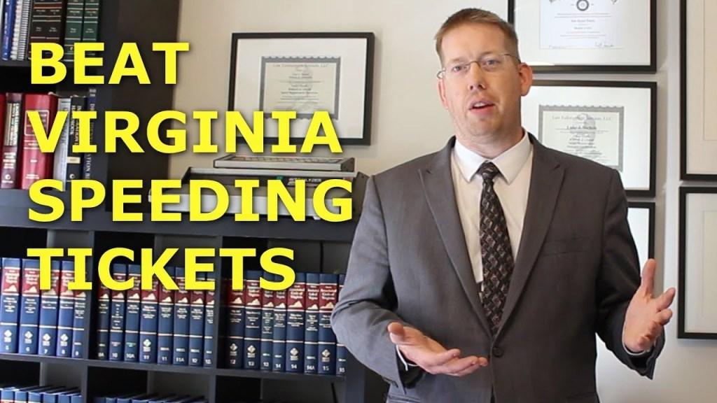 How to Pay Virginia Speeding Ticket