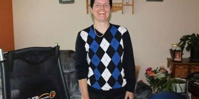Donna Farrell feels better after Zamboni treatments (photo Eastern Graphic)