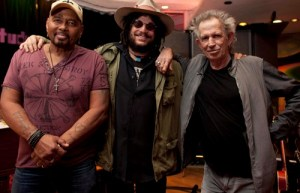 Aaron Neville, Don Was (producer/Blue Note Records) and Keith Richards