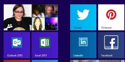 Start Screen Social Media