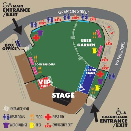 Shania Twain concert site map (click for larger image)