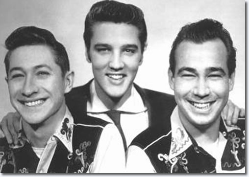 Scotty Moore, Elvis Presley and Bill Black 1954