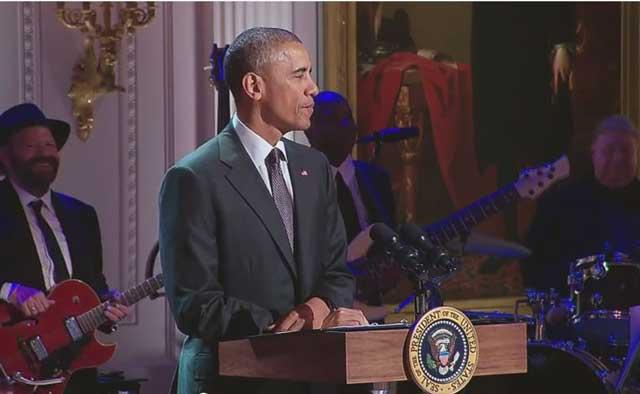 President Obama at The White House celebration of gospel music