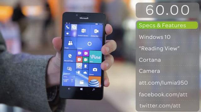 Lumia 950 (photo AT&T)