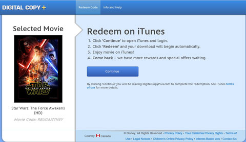 Select iTunes or Play and Continue