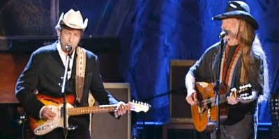 Bob Dylan and Willie Nelson (from YouTube)