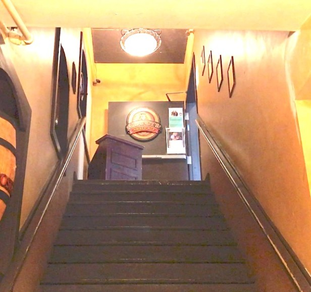 A long flight of stairs bars anyone in a wheelchair from attending Winterjazz at The Pourhouse (photo Stephen Pate/NJN)