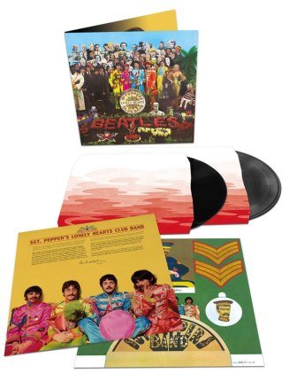 The Beatles Sgt. Pepper vinyl - 2-LPs, original 1967 cutouts, booklet and custom sleeves