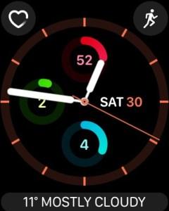 Apple Watch Activity App - Activity Analog Face (screenshot NJN Network)