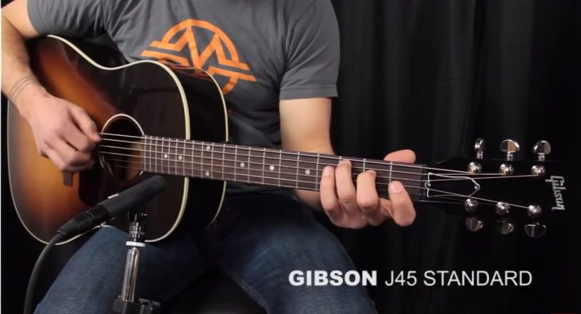 gibson j 45 guitar the most popular for 75 years njn network. Black Bedroom Furniture Sets. Home Design Ideas