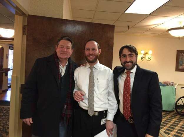 With John C. and Chaim Ribiat on one of his recent visits to Regency Park