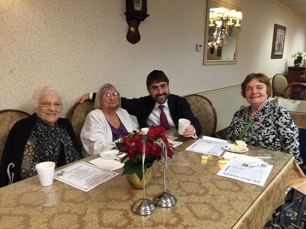 Sipping coffee with the ladies this morning at Regency Park!