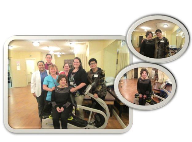 Carolann returns to Regency Gardens to thank the therapy team!!