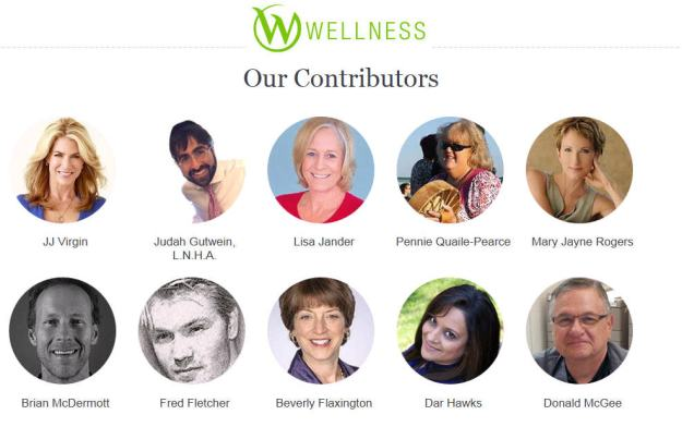 Wellness Contributors - Homepage