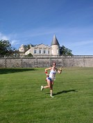 Running at Rothschild Chateau and Vineyard