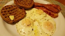 Breakfast for dinner with pullet eggs