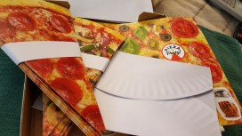 Pizza note cards from Chronicle Books