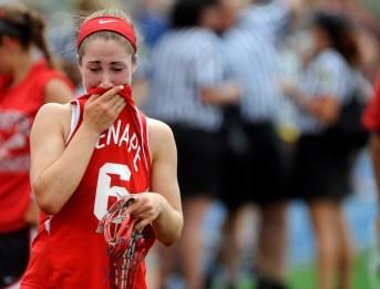Carlee Braverman (6) after losing to Ridgewood in Saturday's group 4 state championship game at Kean University,Union NJ.