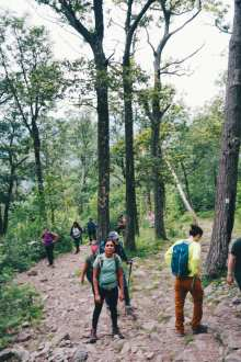 Group Hiking Up
