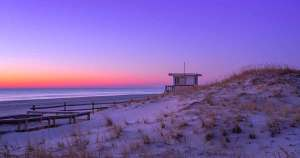 island beach state park at sunrise