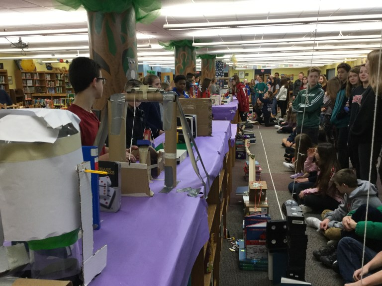 6th grade Extraordinaires Science Design Challenge & 8th grade Rube Goldberg Challenge