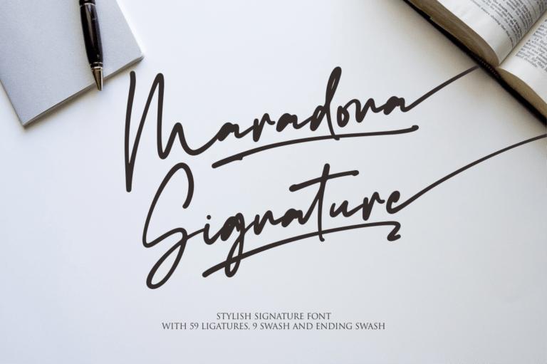 Preview image of Maradona Signature