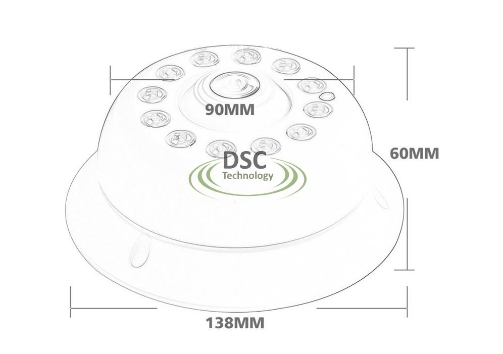 HD 1080P Fisheye IP Camera Indoor Sony IMX Network P2P