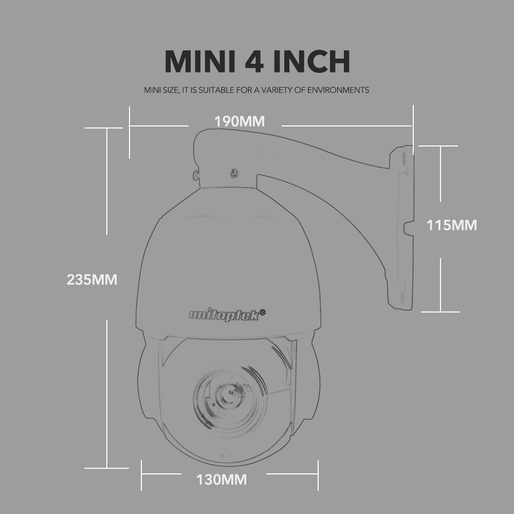 4.5'' 30X Zoom 1080P 2MP Outdoor HD PTZ IP Speed Dome