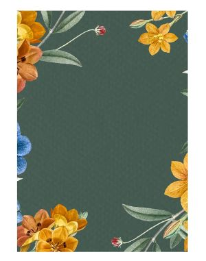 Green-floral-welcome-board