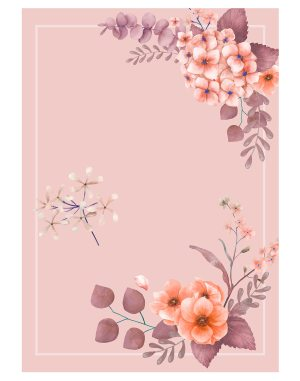 Pink-themed-floral-wedding-welcome-board
