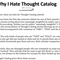 Why I hate Thought Catalog