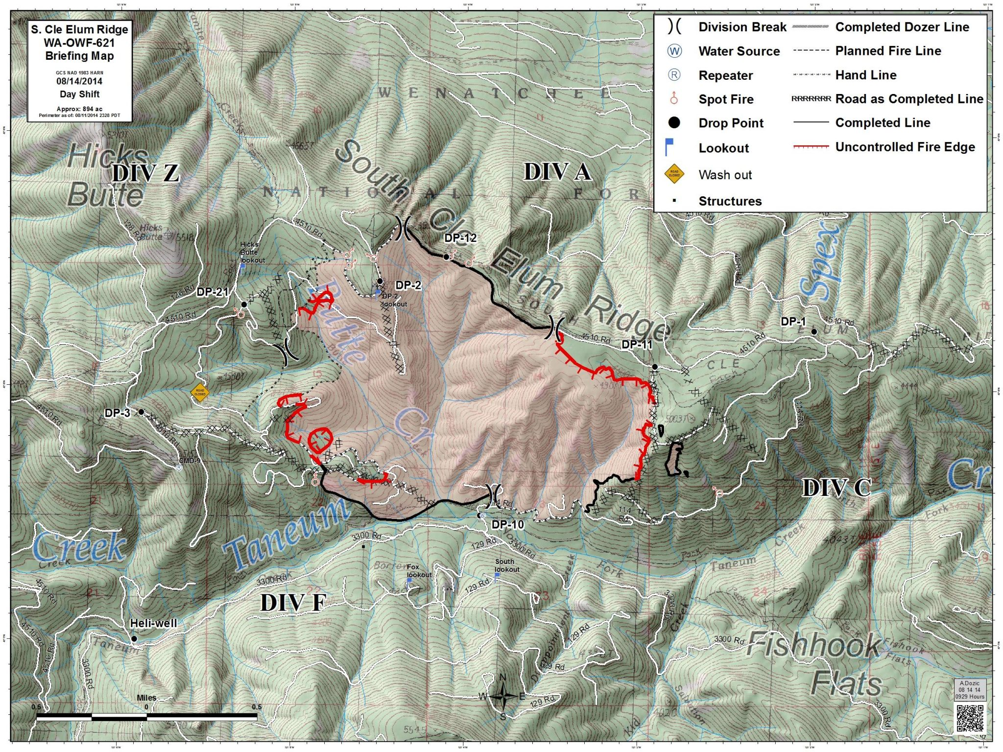 UPDATES South Cle Elum Ridge Fire   Contained  Mopping Up - Us national forest fire map