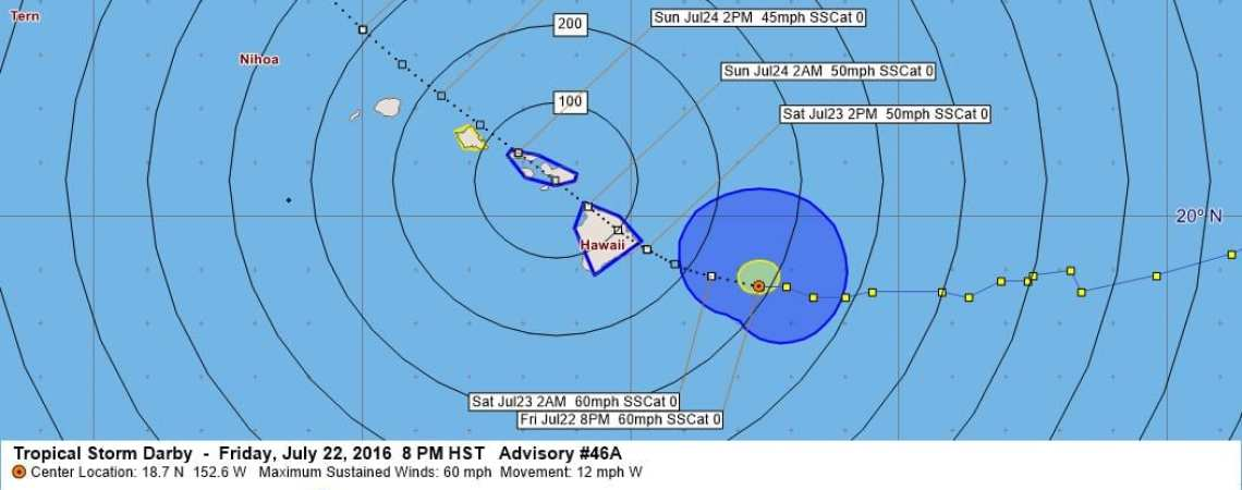 Tropical Storm Darby Advisory  46A