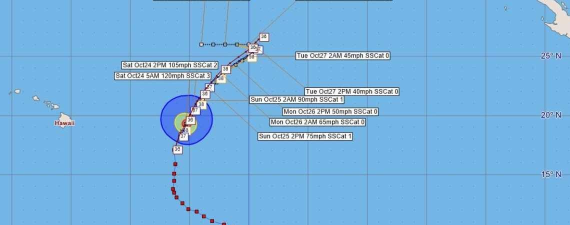 Hurricane Olaf Advisory 39