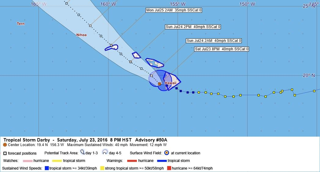 Tropical Storm Darby Advisory 50A