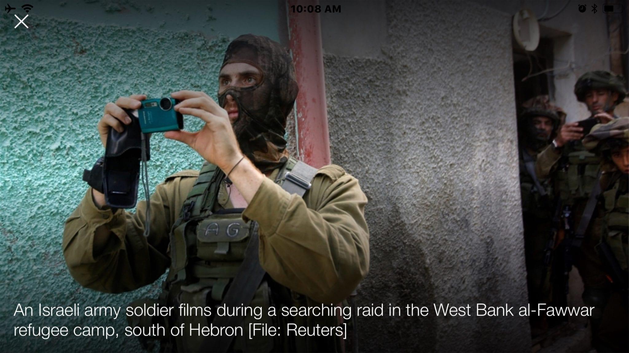 Israeli bill to ban filming soldiers on duty condemned | News | Al Jazeera