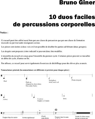 Percussions corporelles - Les Arts dès l'école