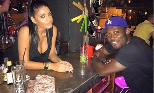Michael Essien and new girlfriend