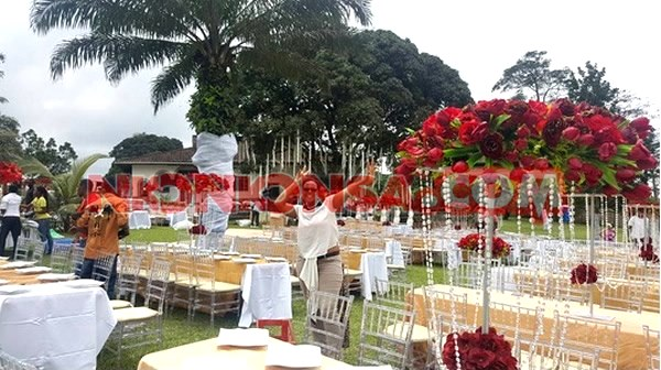 Gifty Anti Wedding Set up going on