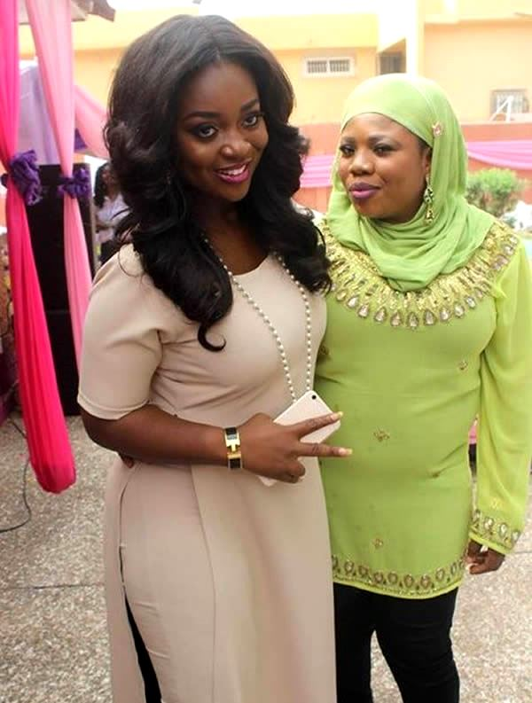 Jackie Appiah and Samira with her supposed baby bump