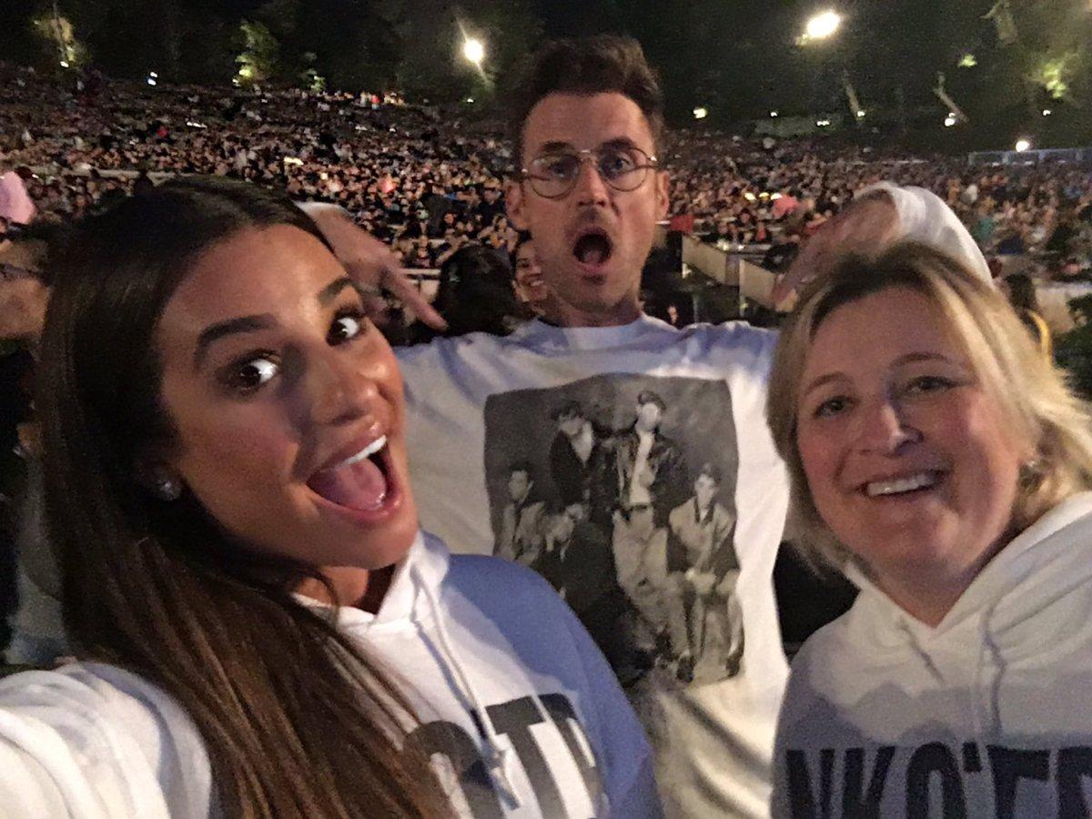 Lea Michele at nktob concert total package tour Brad Goreski